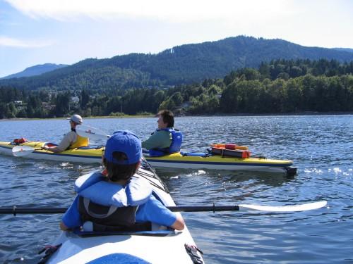 people kayaking in saltair ladysmith