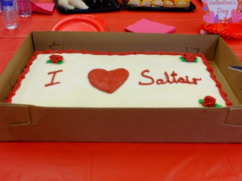 One of the cakes
