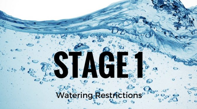 Drought Smart – Stage 1 Water Restrictions