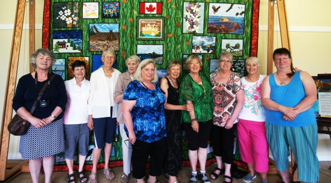 Saltair's Canada 150th Quilt on Exhibit