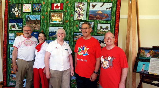 Saltair Gathers to View Sesquicentennial Quilt