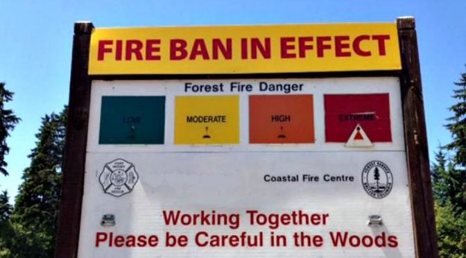 Camp Fire Burning Ban in Effect