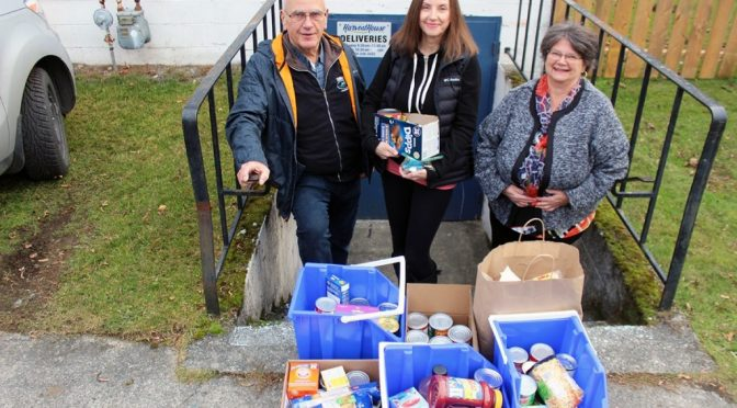 Saltair Community Donates to the Chemainus Harvest House Food Bank