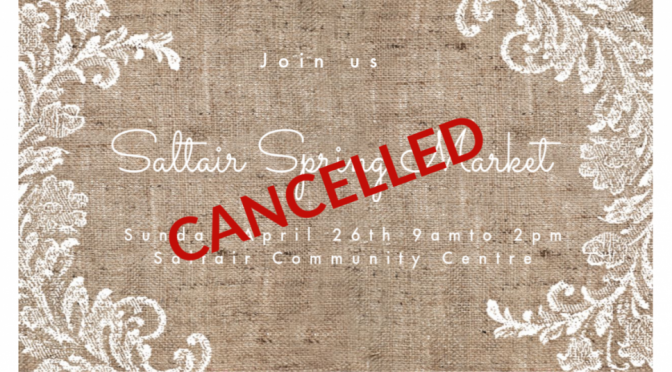 1st Annual Saltair Spring Craft Market Cancelled