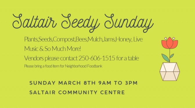2nd Annual Saltair Seedy Sunday March 8th