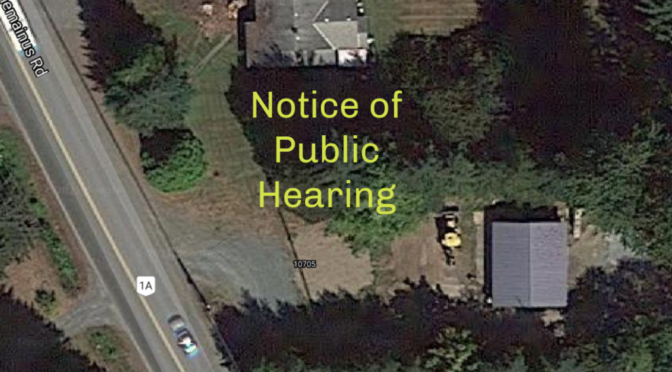 Saltair Notice of Public Hearing Rezoning of 10705 Chemainus Rd